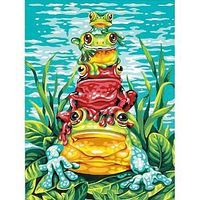 Dimensions Frog Pile-Up Paint By Number Kit #91421