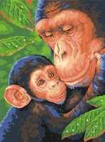 Dimensions Chimp & Baby Paint By Number Kit #91470