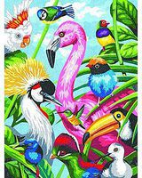 Dimensions Tropical Feathers (Birds) Pencil By Number Kit #91497