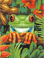 Dimensions Tree Frog Paint by Number (9x12)
