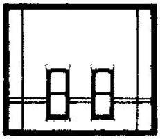 Design-Preservation Street Level Rectangle Window HO Scale Model Railroad Building Accessory #30134