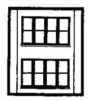 Design-Preservation Two Story Victorian Window HO Scale Model Railroad Building Accessory #30144