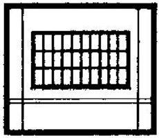 Design-Preservation Dock Level Steel Sash Window HO Scale Model Railroad Building Accessory #30173
