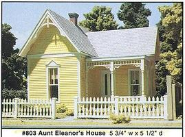 Design-Preservation Aunt Eleanors House (5-3/4 x 5-1/2) O Scale Model Railroad Building #80300