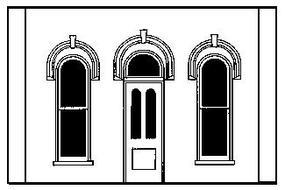 Design-Preservation Arched Entry Door O Scale Model Railroad Building Accessory #90101