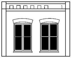 Design-Preservation Double Window Wall O Scale Model Railroad Building Accessory #90106