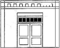 Design-Preservation Loading Door O Scale Model Railroad Building Accessory #90107
