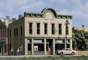 Design-Preservation Crestone Credit Union Kit N Scale Model Railroad Building #woo50800