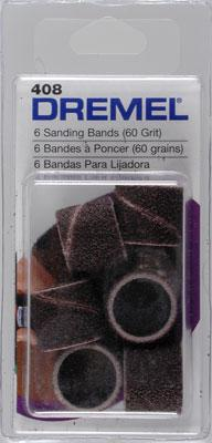 Dremel Mfg. Co. Sander Bands Coarse (6) -- Rotary Power Tool Sanding Bit -- #408
