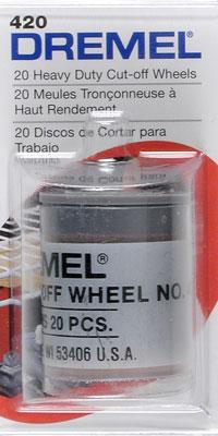 Dremel Mfg. Co. Heavy Duty Cut-Off Wheel (20) -- Rotary Power Tool Sanding Cut Off Wheel -- #420