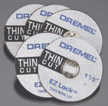 Dremel Mfg. Co. EZ Lock Thin Reinforced Cutting Wheel -- Rotary Power Tool Cut Off Wheel -- #ez409