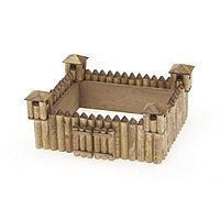 Darice Frontier Fort Wooden Model Kit (5x4) Wooden Construction Kit #918123