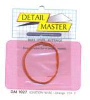 Detail-Master 2ft. Ignition Wire Orange Plastic Model Vehicle Accessory Kit 1/24-1/25 Scale #1027