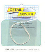 Detail-Master 3ft. Ignition Wire White Plastic Model Vehicle Accessory Kit 1/24-1/25 Scale #1028