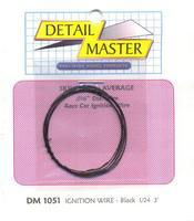 Detail-Master 3ft. Car Ignition Wire Black Plastic Model Vehicle Accessory Kit 1/24-1/25 Scale #1051