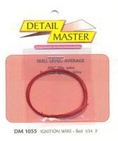 Detail-Master 3ft Race Car Ignition Wire Red Plastic Model Vehicle Accessory Kit 1/24-1/25 Scale #1055