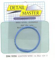Detail-Master 2ft Car Ignition Wire Light Blue Plastic Model Vehicle Accessory Kit 1/24-1/25 Scale #1056