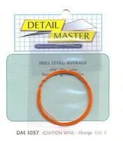 Detail-Master 2ft Race Car Ignition Wire Orange Plastic Model Vehicle Accessory Kit 1/24-1/25 Scale #1057