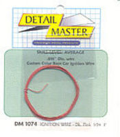 Detail-Master 3ft Ignition Wire Dark Pink Plastic Model Vehicle Accessory Kit 1/24-1/25 Scale #1074