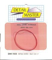 Detail-Master 3ft. Detail Wire Red Plastic Model Vehicle Accessory Kit 1/24-1/25 Scale #1103