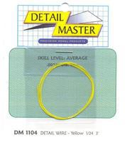 Detail-Master 3ft. Detail Wire Yellow Plastic Model Vehicle Accessory Kit 1/24-1/25 Scale #1104