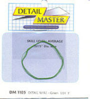 Detail-Master 3ft. Detail Wire Green Plastic Model Vehicle Accessory Kit 1/24-1/25 Scale #1105