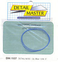 Detail-Master 3ft. Detail Wire Light Blue Plastic Model Vehicle Accessory Kit 1/24-1/25 Scale #1107