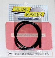 Detail-Master 2ft. Coolant Hose Black (.120 Dia.) Plastic Model Vehicle Accessory 1/24-1/25 Scale #1427
