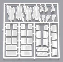 Detail-Master Custom Foot Pedals (26pc) Plastic Model Vehicle Accessory Kit 1/24 Scale #2200