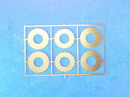 Detail-Master Vented Disc Brakes 11 Solid Plastic Model Vehicle Accessory Kit 1/24 Scale #2230
