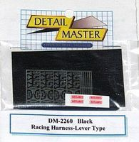 Detail-Master Racing Harness Lever Type (Black) Plastic Model Vehicle Accessory Kit 1/24 Scale #2260blk