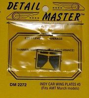 Detail-Master Indy Wing Plates (D) Plastic Model Vehicle Accessory Kit 1/24-1/25 Scale #2272
