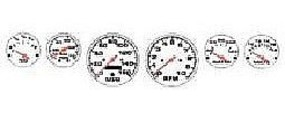 Detail-Master Street Rod Gauges #2 (White) Plastic Model Vehicle Accessory Kit 1/24-1/25 Scale #2301wht