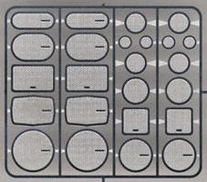 Detail-Master Speaker Grilles #2 (12 Sets) Plastic Model Vehicle Accessory Kit 1/24-1/25 Scale #2500