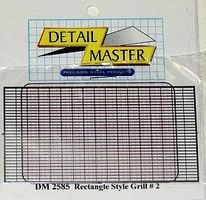 Detail-Master Front Rectangle Grille Plastic Model Vehicle Accessory Kit 1/24-1/25 Scale #2585