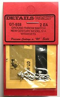 Details-West HO Ground Throw Switch Detail New Century Model 51A w/Targets (2ea)
