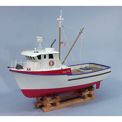 24'' Jolly Jay Fishing Trawler Boat Kit Wooden Boat Model Kit #1231 by Dumas (1231)