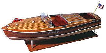 Dumas 1949 Chris-Craft 19' Racing Runabout -- RC Wooden Scale Powered Boat Kit -- #1249