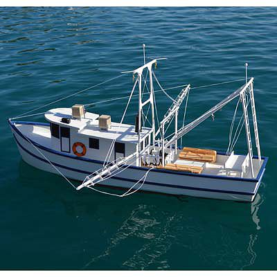 Rusty the shrimp boat kit 36 39 39 rc wooden scale powered for Rc fishing boat for sale