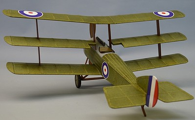 Dumas 18'' Wingspan Sopwith Rubber Pwd Aircraft Laser Cut Kit
