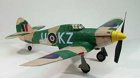 Dumas 30 Wingspan Hawker Hurricane Rubber Pwd Aircraft Laser Cut Kit