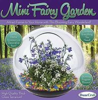 Dunecraft Glass Terrarium Mini Fairy Garden