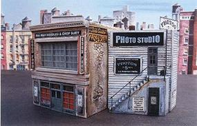 Downtown-Deco Blair Avenue Part One Cast Hydrocal & Plastic Kit HO Scale Model Railroad Building #1005