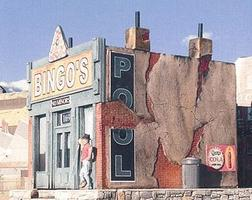 Downtown-Deco Bingos Pool Hall Kit HO Scale Model Railroad Building #1029