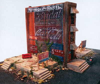 Downtown Deco The Worst Building in Town Kit -- HO Scale Model Railroad Building -- #1060