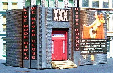 Downtown Deco Kitty Corner Kit -- N Scale Model Railroad Building -- #2015
