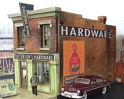 Downtown-Deco Pattersons Hardware Kit O Scale Model Railroad Building #48