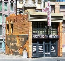 Downtown-Deco Sisters of Mercy Thrift Store Kit O Scale Model Railroad Building #51