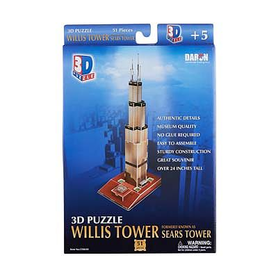 Daron Worldwide Trading Inc. Willis (Sears) Tower 3D 51pcs -- 3D Jigsaw Puzzle -- #083h