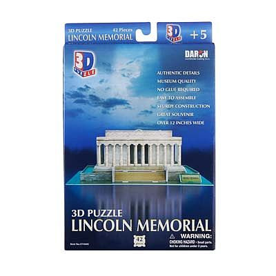 Daron Worldwide Trading Inc. Lincoln Memorial 3D 42pcs -- 3D Jigsaw Puzzle -- #104h